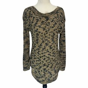 Parkhurst Green/Taupe Basket Weave Sweater S